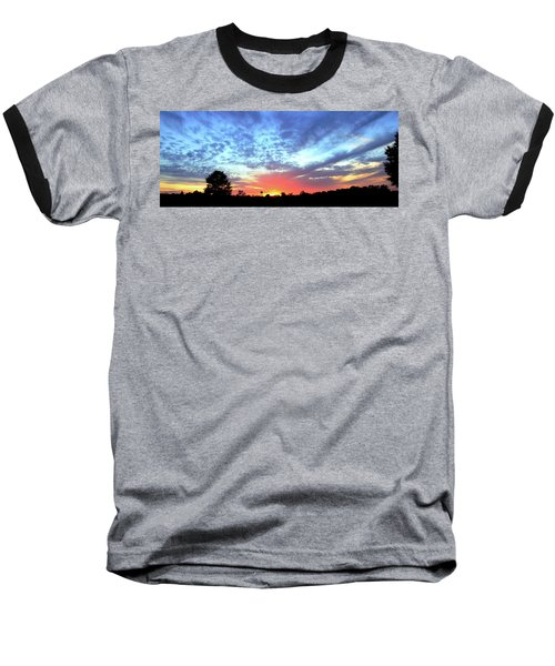 Baseball T-Shirt featuring the photograph City On A Hill - Americus, Ga Sunset by Jerry Battle
