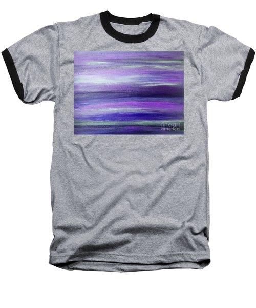 Amethyst Mirage  Baseball T-Shirt by Rachel Hannah