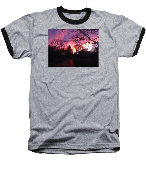 Baseball T-Shirt featuring the photograph Amethyst Sunset by Rebecca Wood