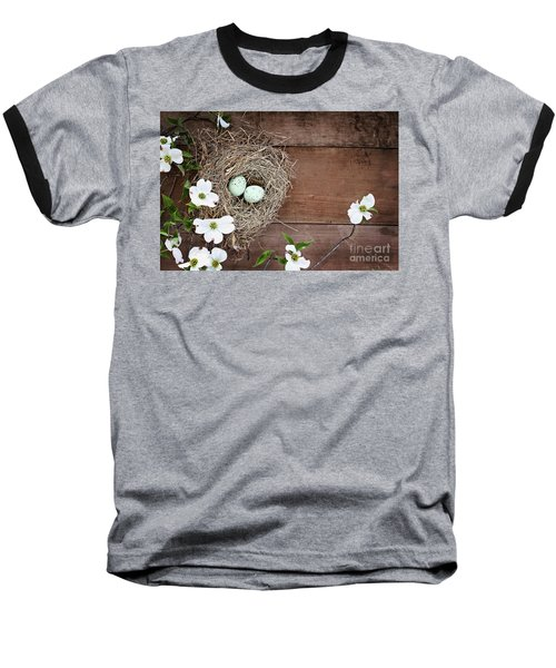 Amid The Dogwood Blossoms Baseball T-Shirt