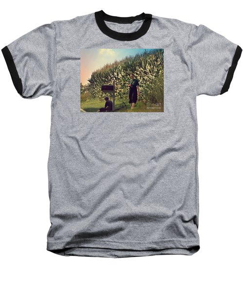 Amish Girls Watermelon Break Baseball T-Shirt