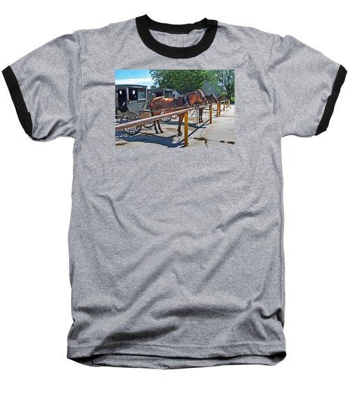 Amish Parking Lot Baseball T-Shirt
