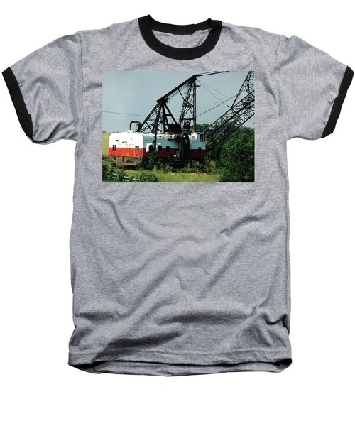 Abandoned Dragline Excavator In Amish Country Baseball T-Shirt