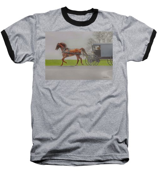 Amish Sunday Ride Baseball T-Shirt
