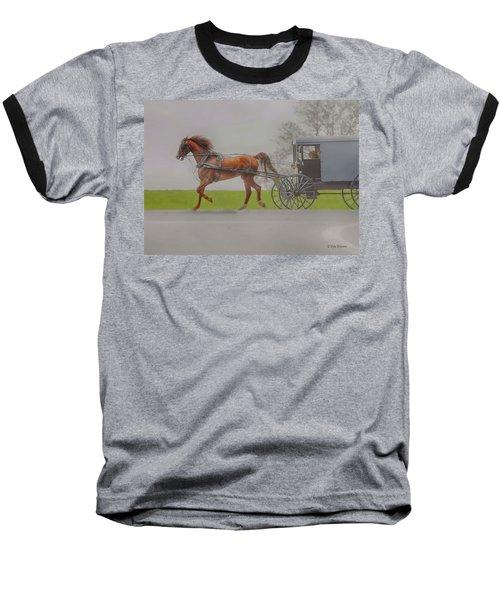 Amish Sunday Ride Baseball T-Shirt