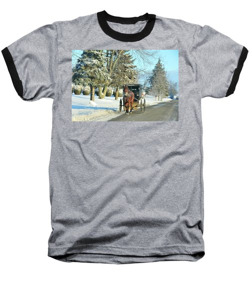 Amish Winter Baseball T-Shirt
