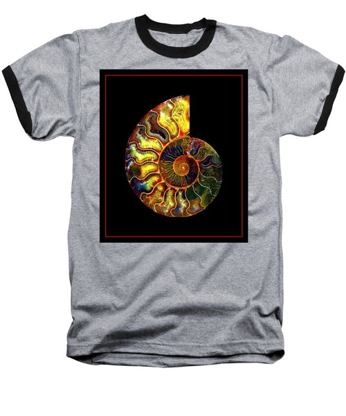 Ammonite Fossil - 8322-3 Baseball T-Shirt