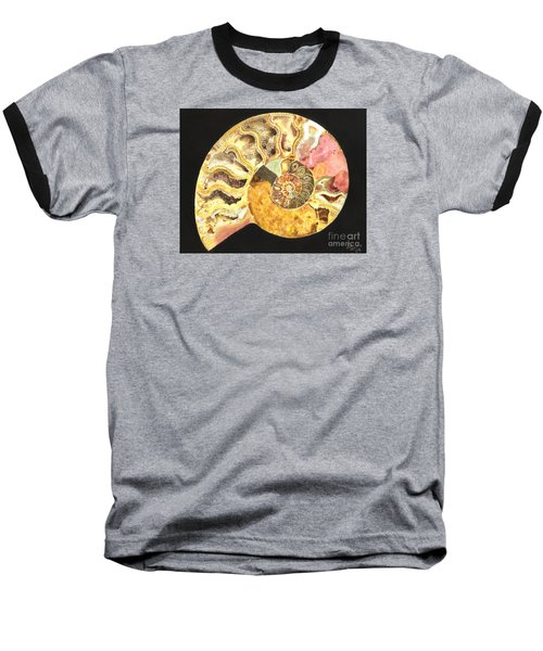 Ammonite Fossil Baseball T-Shirt