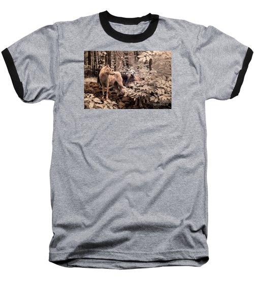 Among Mixed Company Baseball T-Shirt by William Fields