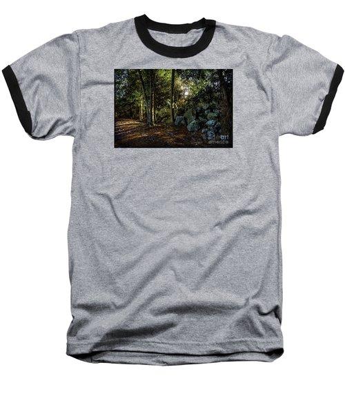 Baseball T-Shirt featuring the photograph Among The Rocks by Ken Frischkorn