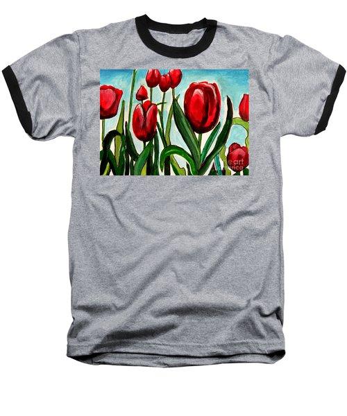 Among The Tulips Baseball T-Shirt