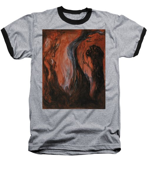 Baseball T-Shirt featuring the painting Amongst The Shades by Christophe Ennis