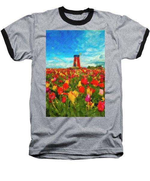 Amongst The Tulips Baseball T-Shirt