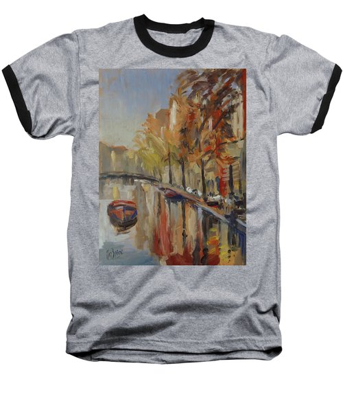 Amsterdam Autumn With Boat Baseball T-Shirt