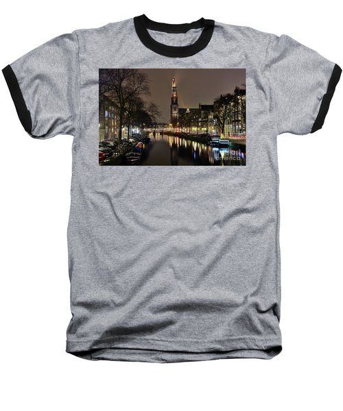 Amsterdam By Night - Prinsengracht Baseball T-Shirt