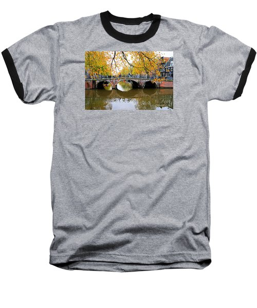 Amsterdam Canal Reflections Baseball T-Shirt