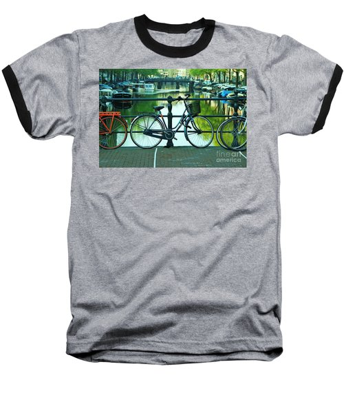 Baseball T-Shirt featuring the photograph Amsterdam Scene by Allen Beatty