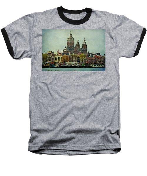 Amsterdam Skyline Baseball T-Shirt