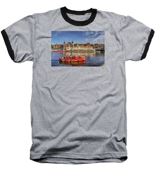Amsterdam Waterfront Baseball T-Shirt by Uri Baruch