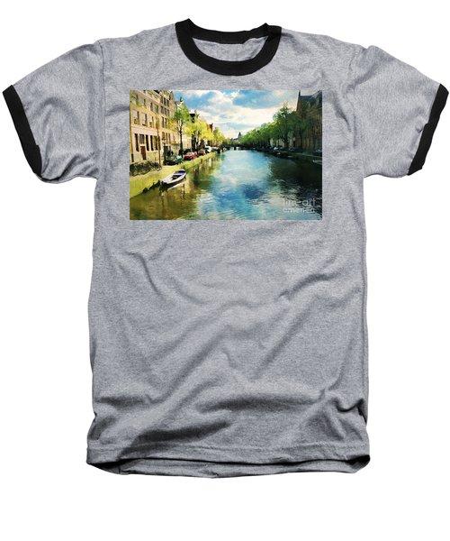 Amsterdam Waterways Baseball T-Shirt
