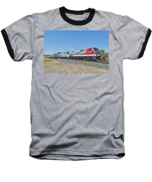 Amtrak 42  Veteran's Special Baseball T-Shirt by Jim Thompson