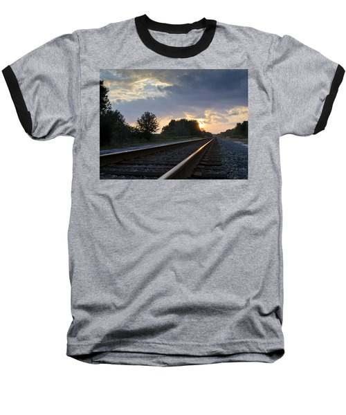 Amtrak Railroad System Baseball T-Shirt