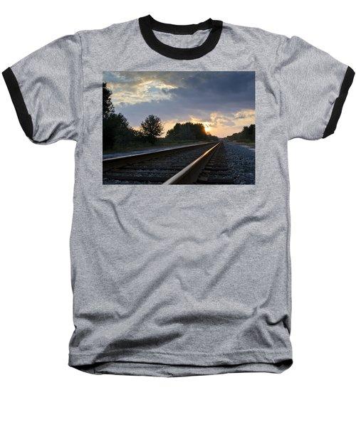 Amtrak Railroad System Baseball T-Shirt by Carolyn Marshall