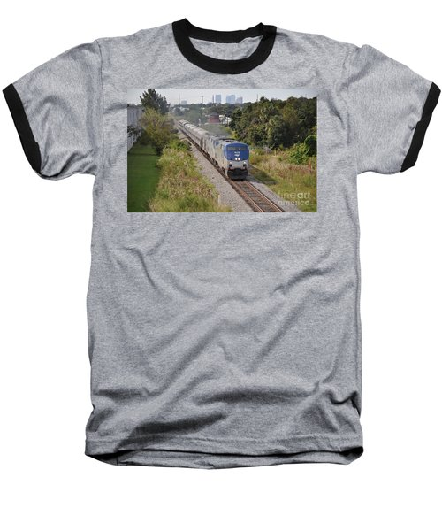 Baseball T-Shirt featuring the photograph Amtrak Silver Star by John Black