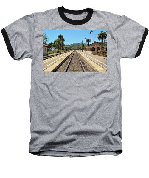 Amtrak Station, Santa Barbara, California Baseball T-Shirt