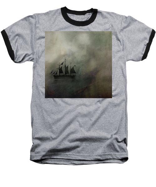 Amundsen And Fram Baseball T-Shirt by Andy Walsh