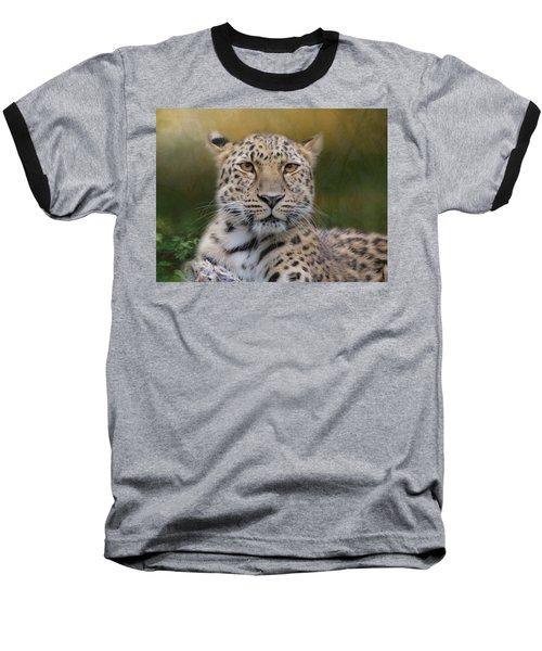 Amur Leopard Baseball T-Shirt