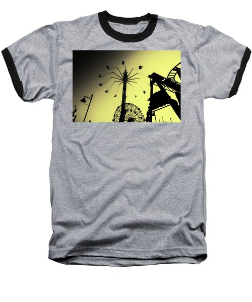 Amusements In Silhouette Baseball T-Shirt