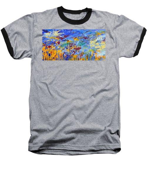 An Abstract Vision Under The Sea Baseball T-Shirt