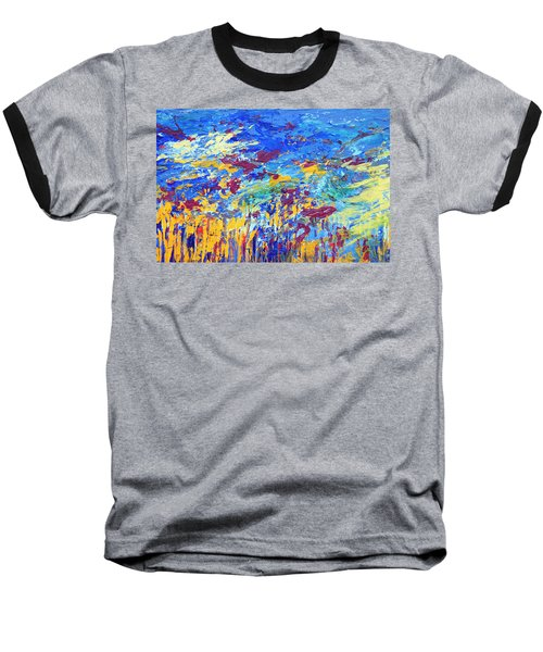 An Abstract Vision Under The Sea Baseball T-Shirt