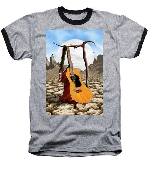 An Acoustic Nightmare Baseball T-Shirt by Mike McGlothlen