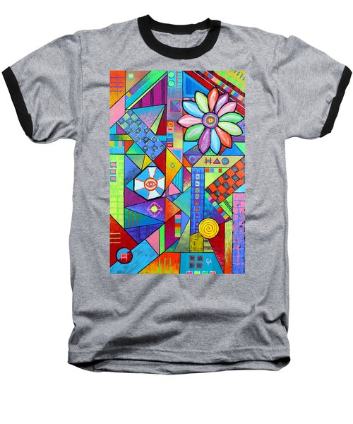 An All Seeing Eye Baseball T-Shirt by Jeremy Aiyadurai
