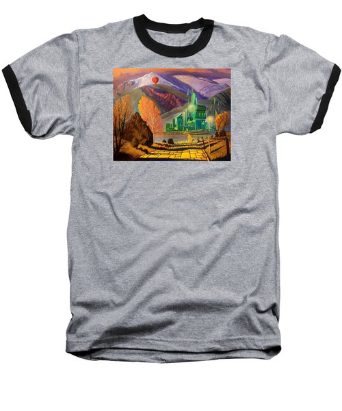 Baseball T-Shirt featuring the painting Oz, An American Fairy Tale by Art West