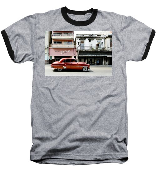 Baseball T-Shirt featuring the photograph An American In Havana by Denis Rouleau