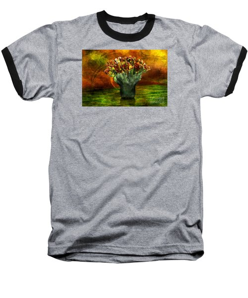 Baseball T-Shirt featuring the digital art An Armful Of Tulips by Johnny Hildingsson