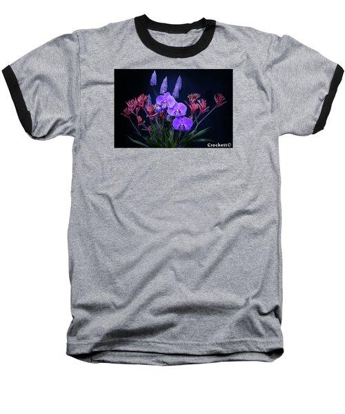 An Aussie Flower Arrangement Baseball T-Shirt by Gary Crockett
