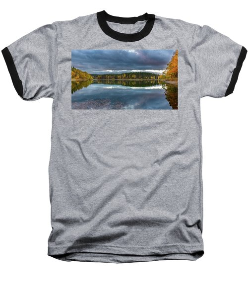 An Autumn Evening At The Lake Baseball T-Shirt by Andreas Levi