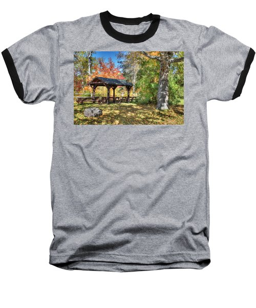 Baseball T-Shirt featuring the photograph An Autumn Picnic In Maine by Shelley Neff