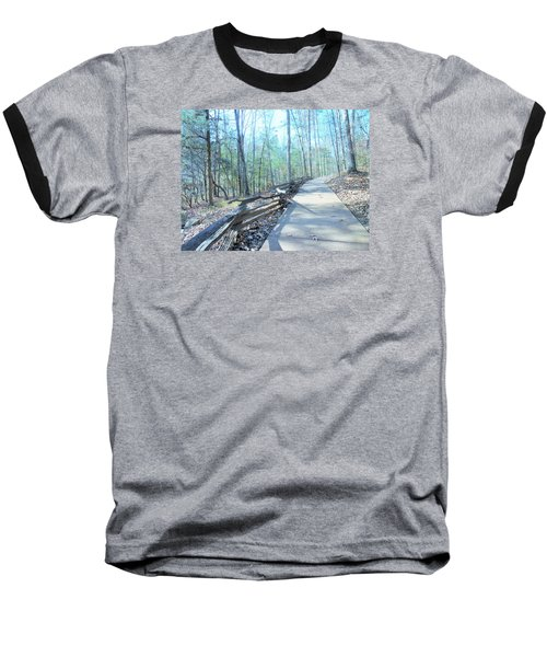An Autumn Walk In The Woods Baseball T-Shirt by Kay Gilley