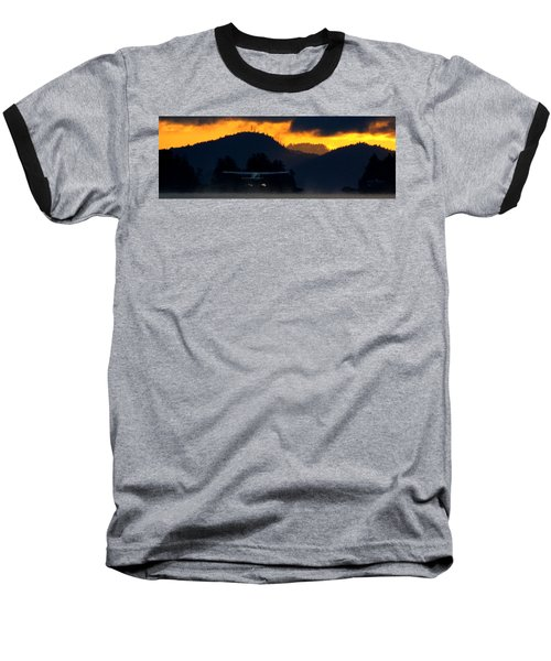 An Early Departure Baseball T-Shirt by Mark Alan Perry