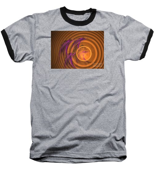 Baseball T-Shirt featuring the digital art An Echo From The Past - Abstract Art by Sipo Liimatainen