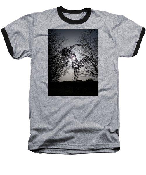 An Eclipse Of The Heart? Baseball T-Shirt by Richard Brookes