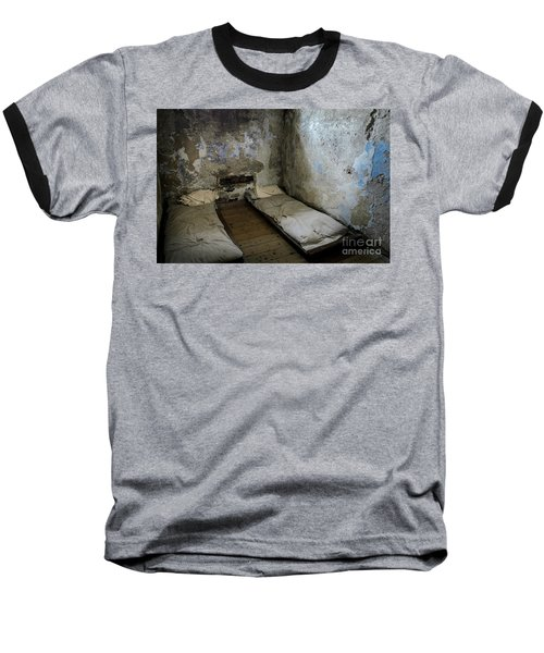 Baseball T-Shirt featuring the photograph An Empty Cell In Cork City Gaol by RicardMN Photography