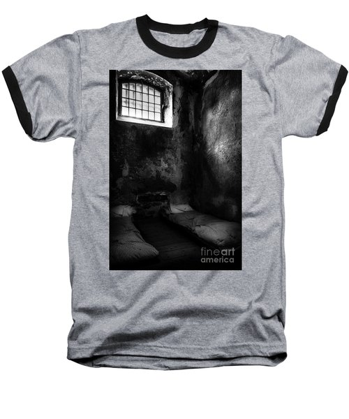 Baseball T-Shirt featuring the photograph An Empty Cell In Old Cork City Gaol by RicardMN Photography