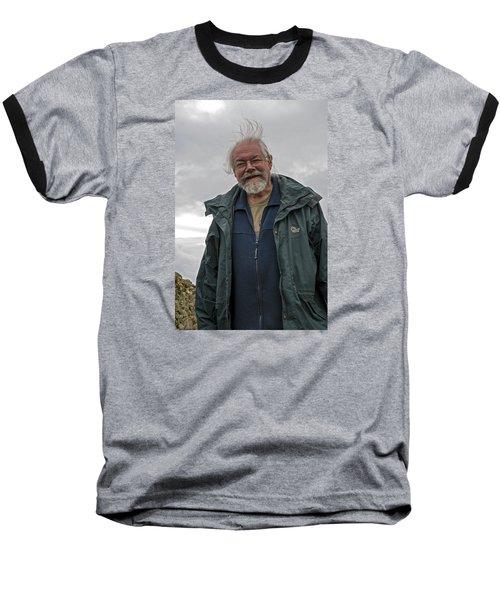 Baseball T-Shirt featuring the photograph An Englishman In Castlerigg, Uk by Dubi Roman