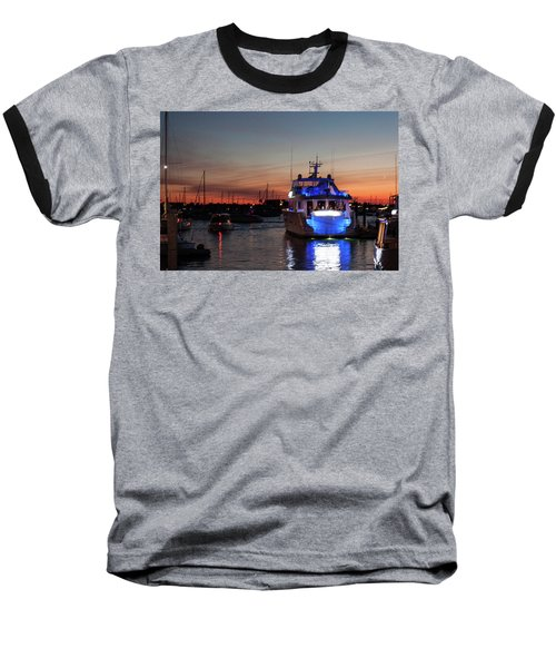 Baseball T-Shirt featuring the photograph An Evening In Newport Rhode Island II by Suzanne Gaff